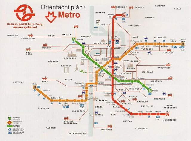 Схема метро праги достопримечательностями фото 63