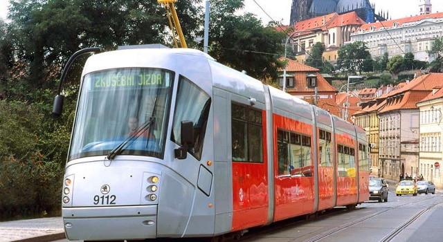 В 2008 г. пражские трамваи